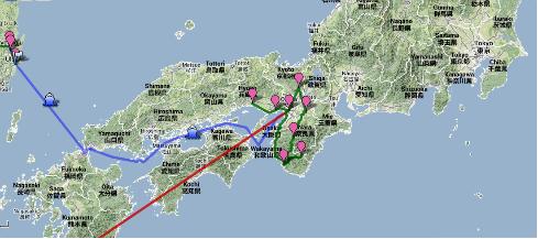Itinéraire prévisionnel
